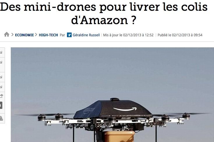 Amazon et les drones : une leçon de Relations presse