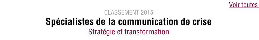 OmniGiBuS dans le Classement 2015 des spécialistes de la Communication de crise